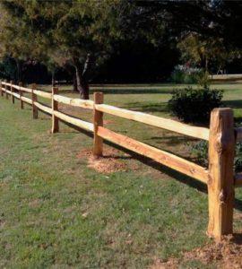 cedar split rail fencing