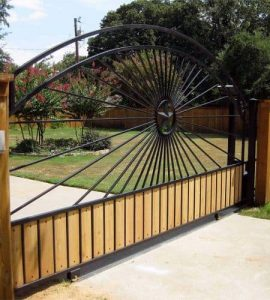 wood and iron fencing